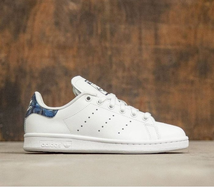 ☆AirRoom☆【現貨】Adidas Originals STAN SMITH 波浪紋 白藍 慢跑鞋 女鞋