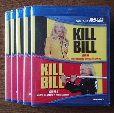 Lucky 1of1收藏bd 正版藍光 Kill Bill 殺死比爾 1-2 套裝2碟全區中字 US/CA