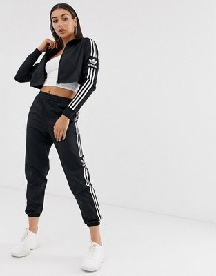 代購adidas Originals Locked Up track top時尚休閒短版運動風外套UK6-22
