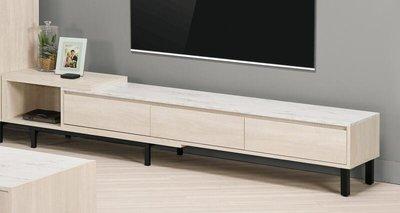 【風禾家具】FQM-811-2@DNL仿石紋6尺伸縮電視櫃【台中9800送到家】TV櫃 長櫃 可伸縮調整 北歐風 傢俱