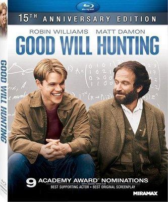 BD 全新美版【心靈捕手】【Good Will Hunting】Blu-ray 藍光 麥特戴蒙