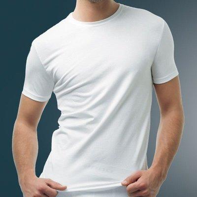 時尚男性無縫精梳棉短袖休閒服T恤 (6726)( S/M)黑 白【西班牙 UNNO】