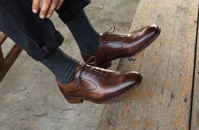 『老兵牛仔』BL016-50秋季商務英倫真皮透氣皮鞋/頭層牛皮/時尚/彈力/耐摩/個性