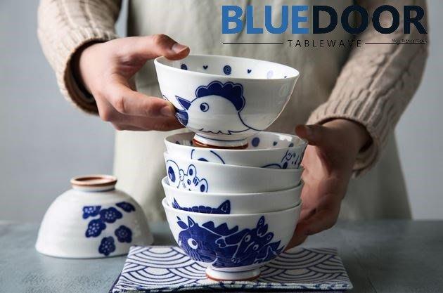 BlueD_ 中式碗 十二生肖 4.5吋 240ML 生肖碗 湯碗 飯碗 陶瓷盤 日式 中國風創意設計裝潢 新居入遷送禮