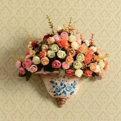 粉紅玫瑰精品屋~歐式高檔陶瓷花瓶壁掛 ...