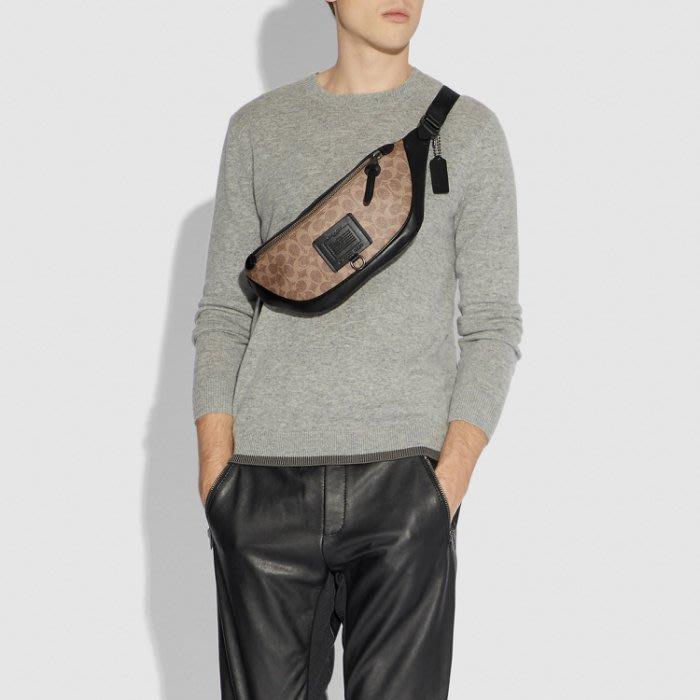 COACH 40345 新款男士腰包 胸包 斜挎包 後背包 多功能超實用