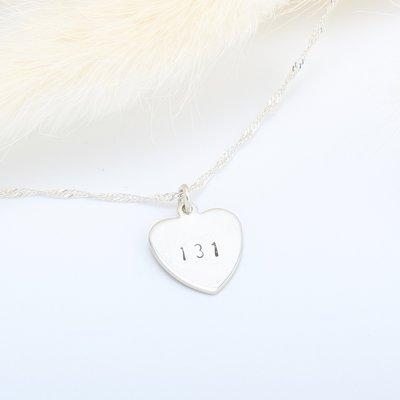 【客製】愛心(中) 敲字 刻字 英文 數字 s925 純銀項鍊