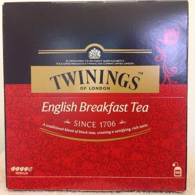 【佩佩的店】COSTCO 好市多 TWININGS 唐寧 英倫早餐茶 紅茶 - 紅盒 100包/盒 新莊可面交
