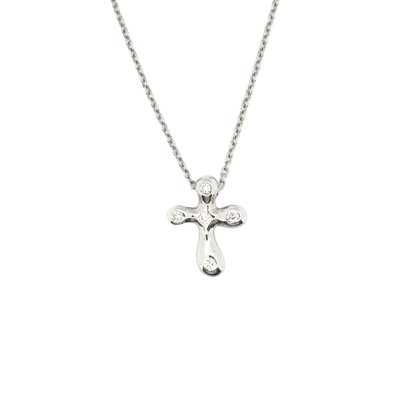 【JHT金宏總珠寶/GIA鑽石專賣】Tiffany&Co.十字架鑽墜(JB27-B23)