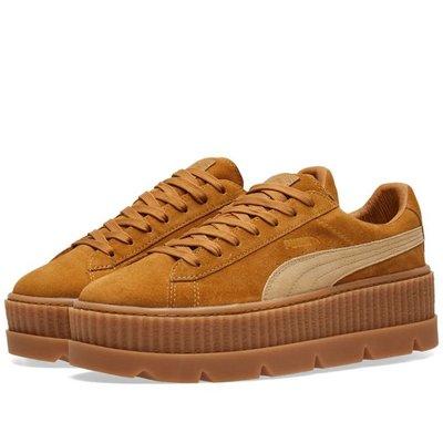 =CodE= PUMA CLEATED CREEPER SUEDE RIHANNA 增高厚底鞋(卡其)366268-02