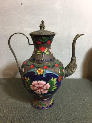 白明月藝術/古物雜貨店 琺瑯水壺