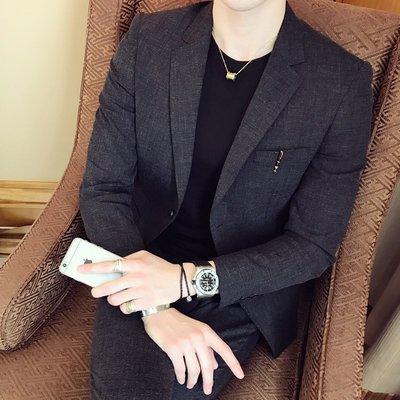 【時尚先生男裝】西服套裝男士韓版職業兩件套新郎正裝婚禮服英倫風休閑西裝外套男韓版西裝 修身西裝 整套西裝 西裝褲 西裝外套正式西裝A0036