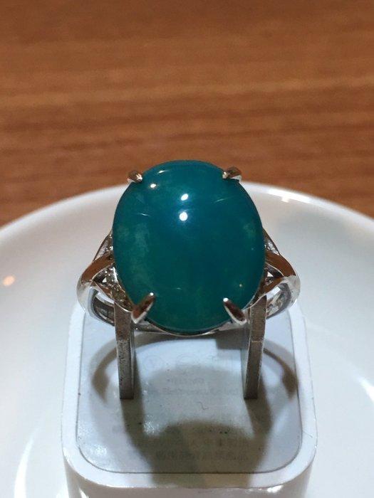 [藍寶迷的家]-台灣藍寶(俗稱) 6.85 克拉天空藍女戒活圍