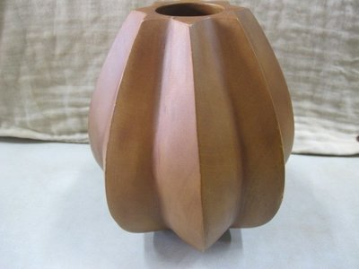 二手舖 NO.3071 EX 芒果木圓弧花器 花瓶 2個一起賣 居家擺件 味道獨特 材質細膩