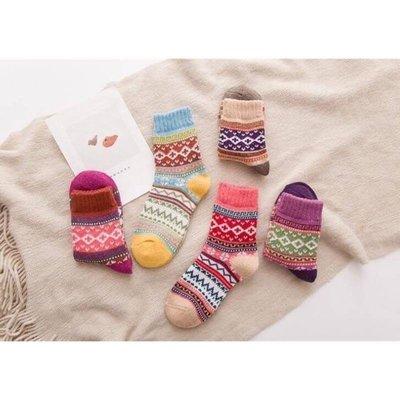 ♥Salina SHOP♥復古民族風兔羊毛襪10入組保暖襪超好穿的每一色2雙