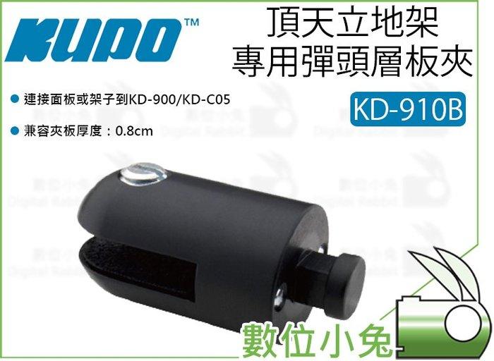數位小兔【KUPO KD-910B 頂天立地架 專用彈頭層板夾 酷炫黑】彈頭夾 8mm 夾具 層板托架 固定夾座 隔板夾