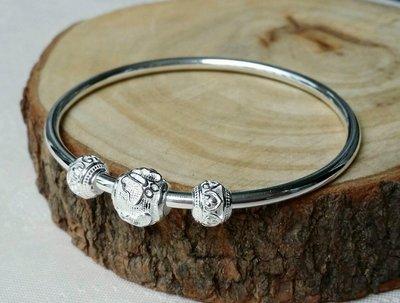 嗨,寶貝銀飾珠寶* 925純銀☆999純銀 時尚 復古 個性 燈籠 古典圖騰實心純銀手環 手鐲