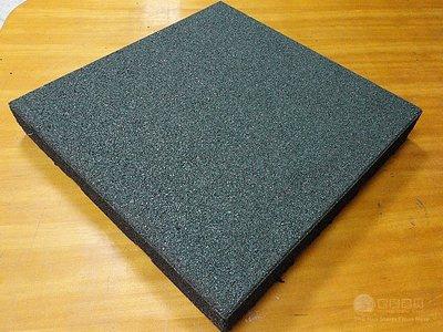 台灣製造 健身房地墊 50*50厚度2.5公分(重訓場/防撞/減震/橡膠墊/緩衝墊/防滑/防撞/橡膠地磚)