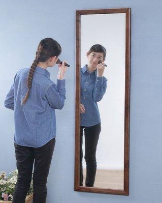 (1月促銷)高140實木掛鏡 壁鏡 穿衣鏡 全身鏡 立鏡 型號MR014WA