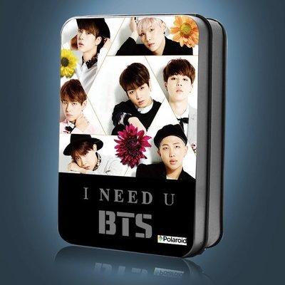 BTS 防彈少年團-I NEED U 專輯BTS周邊紀念品 LOMO30張 獨家贈麻繩 +小夾+彩印收藏鐵盒