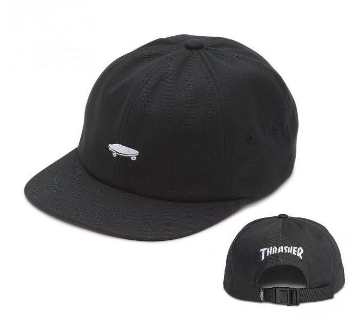 { POISON } VANS x THRASHER JOCKEY POLO HAT 滑板經典圖像刺繡老帽 後扣棒球帽