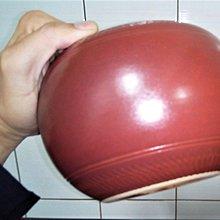 @居士林@手拉坏招財進寶-彩釉(紅色)陶瓷聚寶盆.尺寸:寬18公分.高13公分.口寬直徑11.5公分