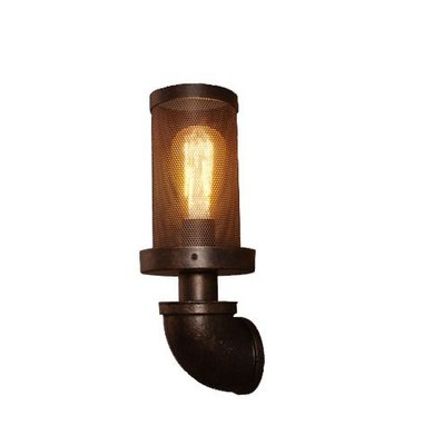 Pike工業風 重金屬 鐵網 壁燈 Loft 客廳 廊道燈 燈飾