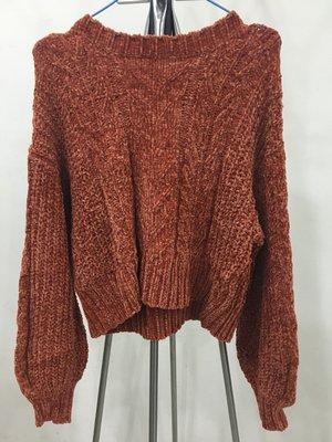 [日本全新現貨] LOWRYS FARM 橘色長袖針織毛衣 上衣 衣服 L