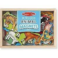 【小糖雜貨舖】美國 Melissa & Doug 動物造型 木質 磁鐵貼