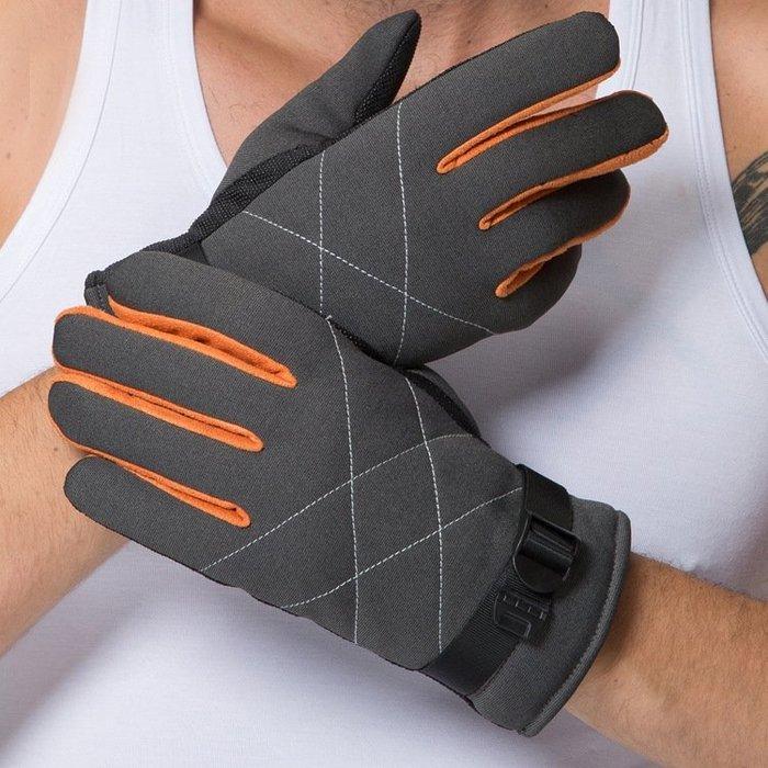 男手套 騎行手套 冬季男士戶外防寒防滑保暖運動手套棉手套男戶外運動手套yx595