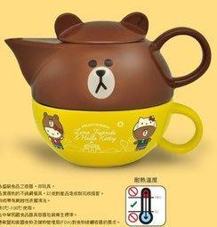 7-11 Hello Kitty x LINE 下午茶組 下午茶杯壺組-熊大款