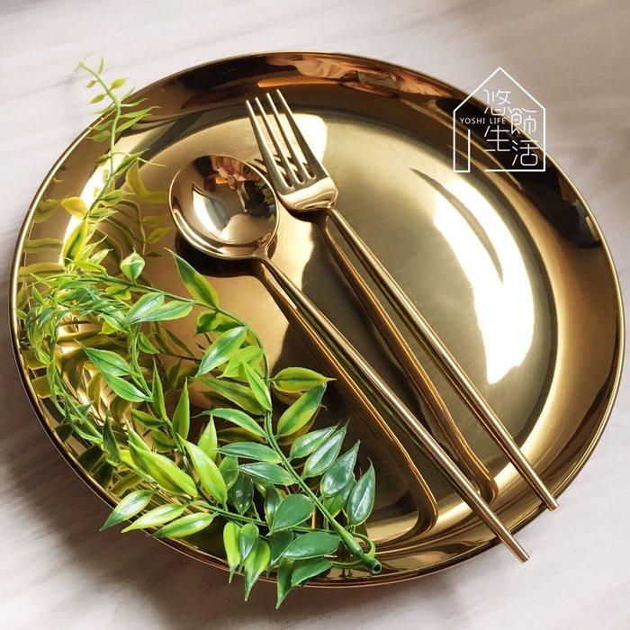 歐式鍍金圓盤 陶瓷盤 金色圓盤 10吋 桌上擺飾 美食拍照 陳列 居家裝飾 金色 銀色