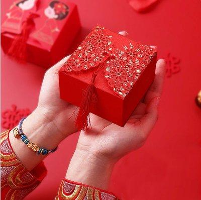 LoverQ 流蘇燙金花海喜糖盒 * 禮盒 桌上禮 紗袋 送客禮  蝴蝶 婚禮小物 喜糖盒 囍糖盒 糖果盒 紙盒 包裝盒