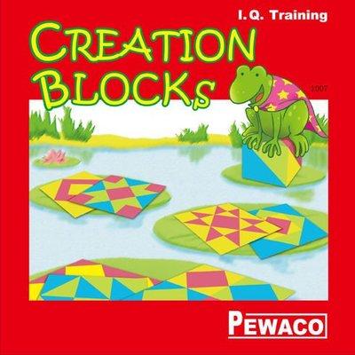 《嘟嘟嘴》德國 PEWACO 創意方塊 CREATION BLOCKS   I.Q. Training PE1007