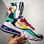 Nike Air Max 270 React 白綠紅 彩色 經典 氣墊 慢跑鞋 AO4971-002 男鞋