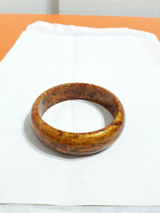 【九龍藝品】金海柳手鐲 ~ 版寬約18mm/內徑寬約62mm【 3 】