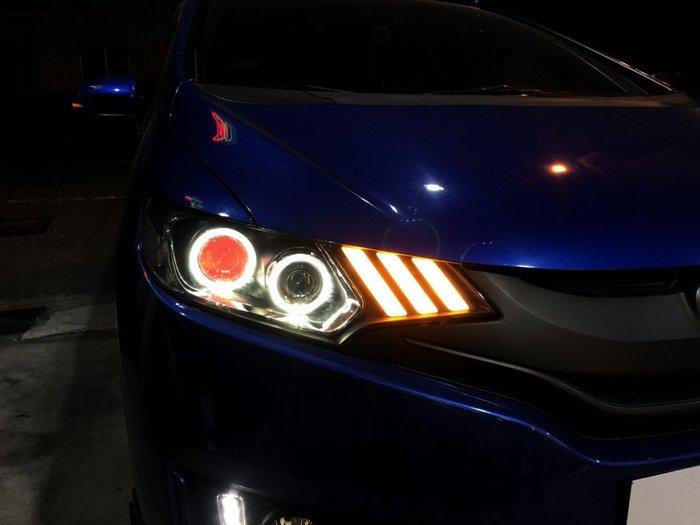 炬霸科技 FIT LED 魚眼 大燈 頭燈 日行燈 導光 光圈 15 16 17 18 13代 三代 飛度 野馬 14