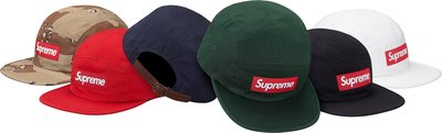 (TORRENT) 2017 秋冬 Supreme washed chino twill camp cap 迷彩 綠 藍