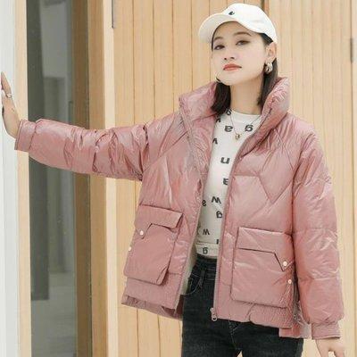 羽絨服 2020冬季女裝韓版輕薄時尚j簡約顯瘦修身拉鏈羽絨服外套