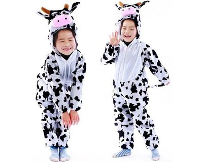 5Cgo 【鴿樓】會員優惠 18216058693 兒童節表演服裝 演出服裝 套裝 大奶牛服裝 居家服 睡衣