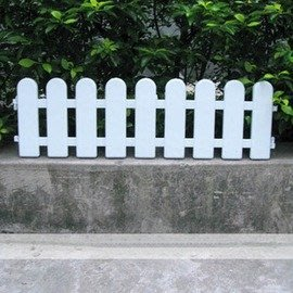 【KA515圍欄片】長50*高15cm 塑膠柵欄 籬笆 塑膠製 6片/套-5101002