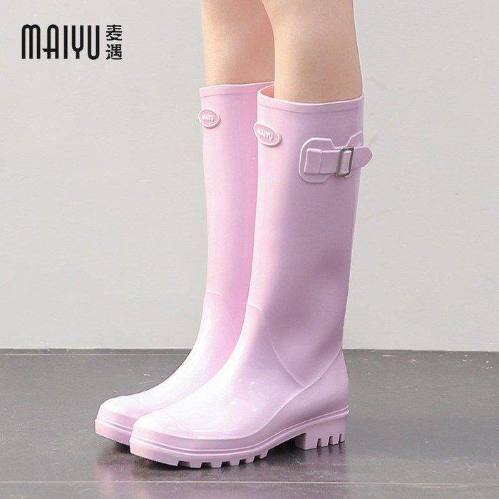 BELOCO 果凍雨鞋女時尚款外穿大人高筒韓國水靴女士水鞋可愛雨靴防滑膠鞋BE655