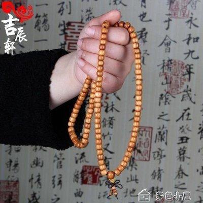 ZIHOPE 肥城桃木佛珠念珠手串108顆保平安男款桃木手鏈女士飾品ZI812