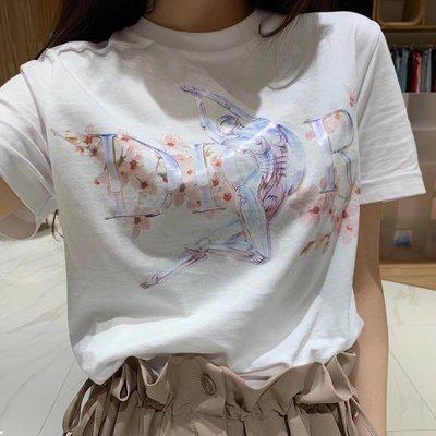 Dior x Hajime Sorayama 19SS空山基 聯名 櫻花裸女機器人 短袖T恤黑白兩色