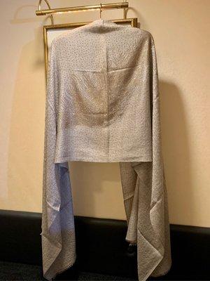 天使之翼✨夢夢園閃閃動人✨-亞麻原色高級羽毛全版細金水鑽羊毛披肩 180x70cm, SHINING DIAMOND PASHIMINA STOLE
