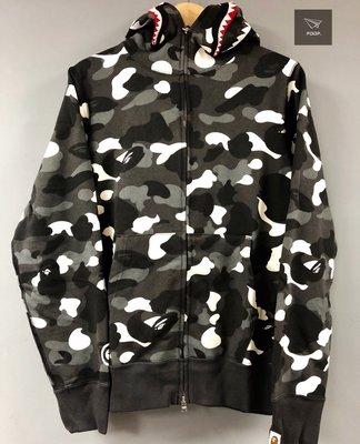 [FDOF]BAPE CITY CAMO SHARK FULL ZIP HOODIE 白色夜光鯊魚外套 帽夾 日本公司貨