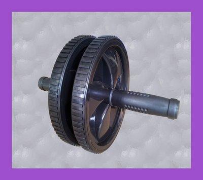 【奇力健身館】 雙輪 健美輪.健腹輪.寬型雙輪平穩.採戰車式止滑輪另售二頭肌訓練板