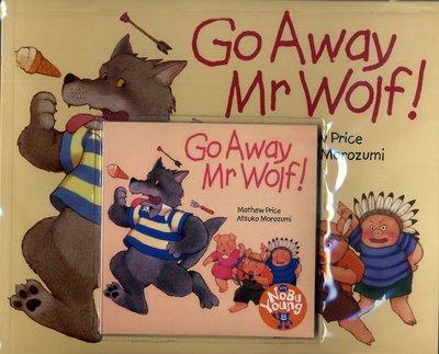 *小貝比的家*GO AWAY MR WOLF!/平裝+CD/3~6歲/冒險想像