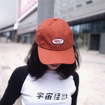 韓版REPLY字母刺繡軟頂棒球帽 鴨舌帽 男女款 六色  #小叮噹雜貨鋪&tian1122