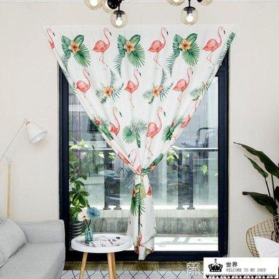 魔術貼窗簾出租房簡易遮光布成品臥室客廳...
